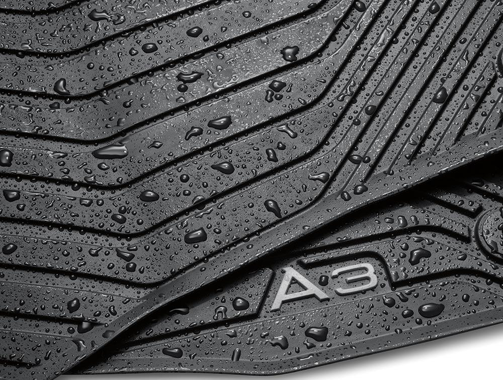 2015 Audi A3 All Weather Floor Mats Rear Front